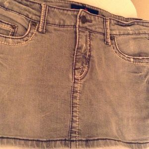 HK premium denim Skirts - Faded Jean Mini Skirt Premium Denim Sri Lanka